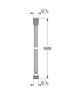 Grohe Relexa doucheslang relexaflex 150cm. moonwhite 28143LS0