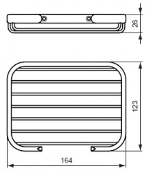 Ideal standard Connect zeephouder draadmodel chroom A9158AA
