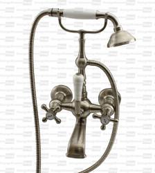 Nostalgische badmengkraan met telefoonhaak en handdoucheset RVS V2030RVS