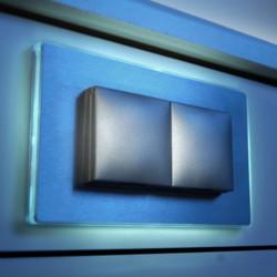 Wandcontactdoos met LED contourverlichting ST 3020 ST/2 LED