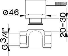 Cisal Less inbouw stopkraan 3/4 LS0003032A