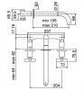 Zazzeri Da-Da 3-Gats Inbouw Wastafelmengkraan 21cm RVS incl. inbouwdeel 1150431770