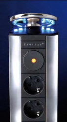 Stopcontact EVOline Port 3 LED BE Penaarde 008786