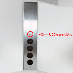 Energiezuil met 4 stopcontacten VST 3007 met USB oplader