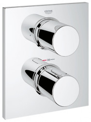 Grohe Grohtherm f afdekset thermostaat met omstel chroom 27618000