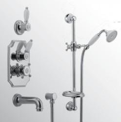 Huber Victorian Thermostatische Inbouw Doucheset Goud 914.VT01H.AG