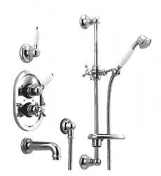 Huber Croisette Inbouw Thermostatische Bad/Doucheset Chroom/Goud 914CS01HCA