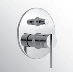Huber Tratto Bad/douchemengkraan inbouw chroom TT.000210.21