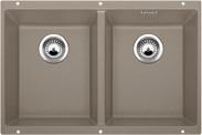Blanco spoelbak Subline 350/350-U manueel onderbouw tartufo 518598