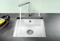 Blanco spoelbak Subline 375-U onderbouw kristalwit 516042