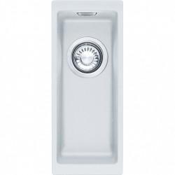 Franke Sirius 2 S2D 110.16 kunstof kleine witte spoelbak 16x41cm onderbouw 1156276282