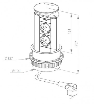 Stopcontact EVOline Port 3 LED 008785