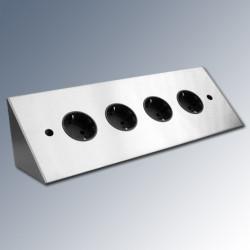 Energiezuil met 4 stopcontacten vst3007f Horizontaal met Belgische penaarde