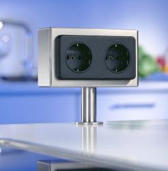 Kookeiland stopcontact VSAT2 met Belgische penaarde