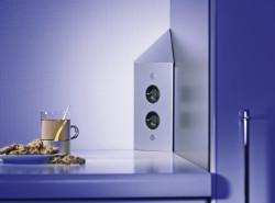 Energiezuil met 2 stopcontacten VST3007-2C met Belgische penaarde
