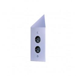 Energiezuil met 2 stopcontacten penaarde ST3007/20C RVS