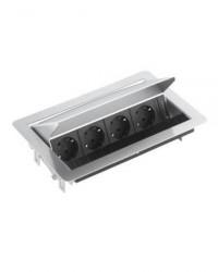 Stopcontact EVOline Fliptop contactdoos RVS
