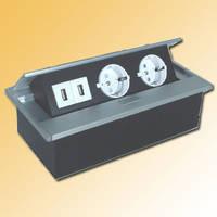 Verzinkbare contactdoos Aluminium 00 8756