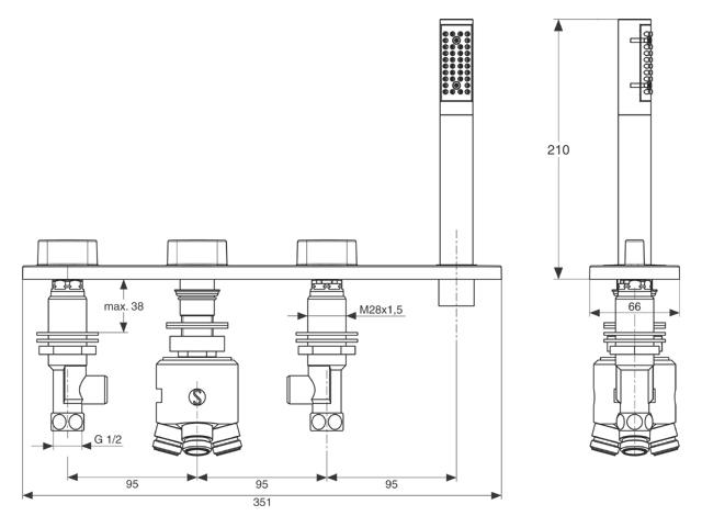ideal standard moments badmengkraan chroom a3920aa. Black Bedroom Furniture Sets. Home Design Ideas
