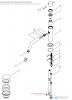 Waterevolution Flow lage wastafelkraan chroom incl. click plug T11001