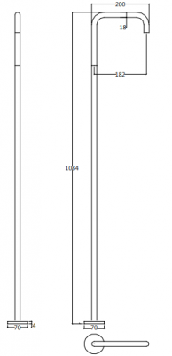 Waterevolution Flow staande wastafelkraan met inbouw mengkraan chroom T167601-T118B01