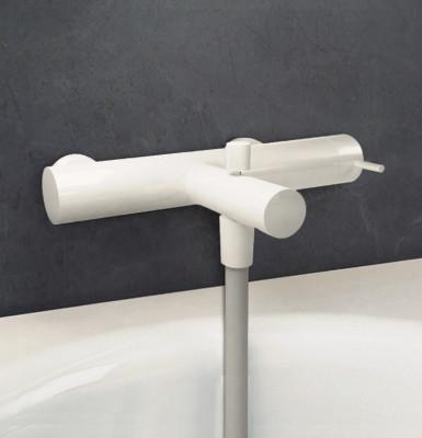 Waterevolution Flow badmengkraan met handdoucheset mat wit T130BR