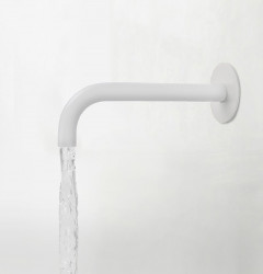 Waterevolution Flow baduitloop mat wit T1671BR lengte uitloop 15cm