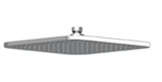 Zazzeri hoofddouche 260 x 260 mm chroom  3500SO01A00CRCR