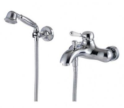 Zazzeri 900 badmengkraan met handdoucheset opbouw chroom 5100 1400 A00