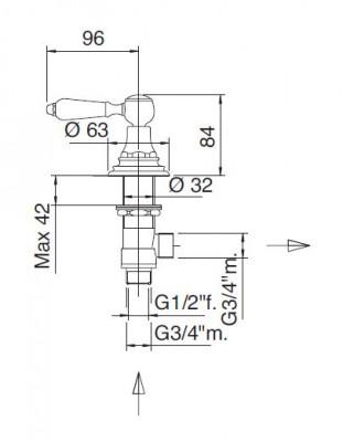 Zazzeri Kent Stopkraan koud keramisch binnenwerk 1208680022 tech