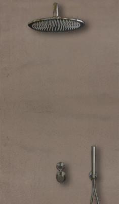 Rubio Inox volledig RVS inbouwdoucheset thermostatisch met 30cm regendouche 1208680722