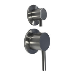 Blusani Steel inbouw mengkraan voor douche of bad met 2-weg omsteller RVS BS027223