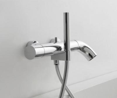 Zazzeri POP opbouw badmengkraan met handdouche Mat wit - Chroom