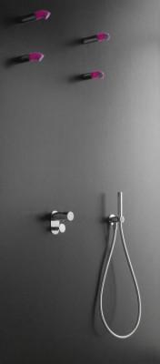 Zazzeri POP - Concealed shower mixer with diverter - external part 2100A401A00CRCR kloon 18-05-2016 10:47:41