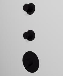 Zazzeri Pop inbouwthermostaatkraan met 2 stopkranen Mat zwart 1208760282