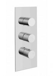 Rubio Barletta inbouw thermostaatkraan met 2 stopkranen Mat wit 1208775902