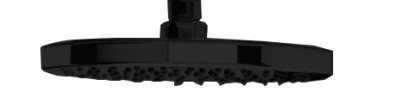 Waterevolution Flow hoofddouche 200mm mat zwart T1643PR