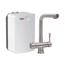 Franke Mondial 3 in 1 kokendwater keukenkraan combi Combi XL volledig RVS met 10 liter boiler 1190480685