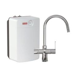 Franke Minerva 3 in 1 kokendwater keukenkraan Combi XL chroom met 10 liter boiler 1190480688