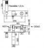 Zazzeri Rem 3-gats inbouw inbouw wastafelmengkraan met handdouche en afdekplaat Chroom 1208845132