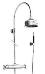 Zazzeri thermostatische inbouwdoucheset met hoofddouche en handdouche chroom 1208849782