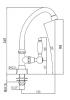 PB klassieke fonteinkraan met witte hendel koud water met hoge uitloop chroom 1208853652