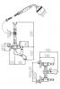 Klassieke kraan opbouw badkraanset met witte hendels Chroom 1208854412