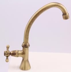Klassieke fonteinkraan met sterknop koud water met hoge uitloop brons 1208855662