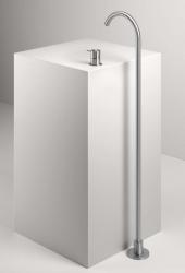 Zazzeri Z316 kolom wastafelkraan RVS met uitloop 19.5cm 1208856622