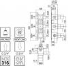 Zazzeri Z316 inbouw thermostaatkraan met 2 stopkranen volledig RVS 1208857132