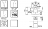 Zazzeri Z316 2-weg inbouw omstelknop voor douche RVS 1208857212