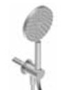 Zazzeri Z316 afbouwdeel handdoucheset zonder afdekplaat met watertoevoer RVS 3300Q419A02