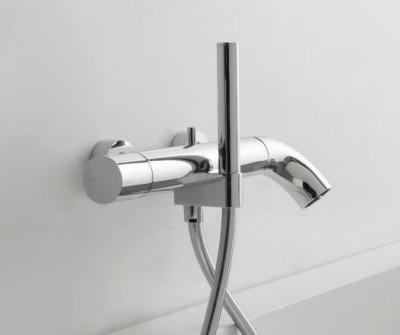 Zazzeri POP opbouw badmengkraan met handdouche Mat wit - silicone oranje 2100A400A001042
