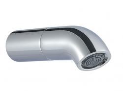 Zazzeri pop baduitloop 123mm chroom - mat wit 21000403A00CR10 1208858862